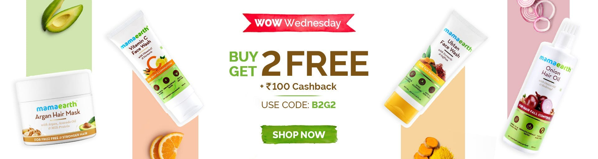 mamaearth.in - Get Buy 2 Get 2 Free + ₹100 cash-back on Select Body Care Range