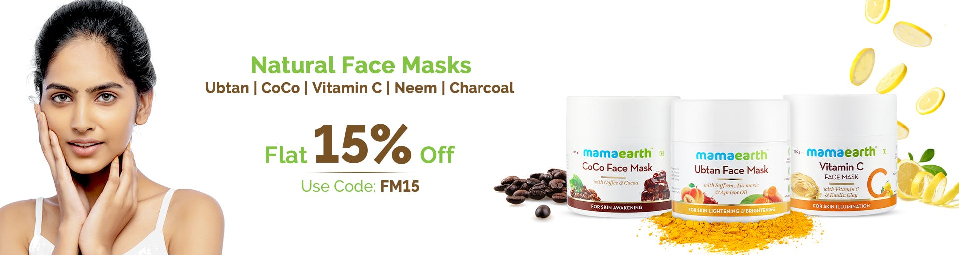 mamaearth.in - Get Flat 15% Discount on MamaEarth FaceMask