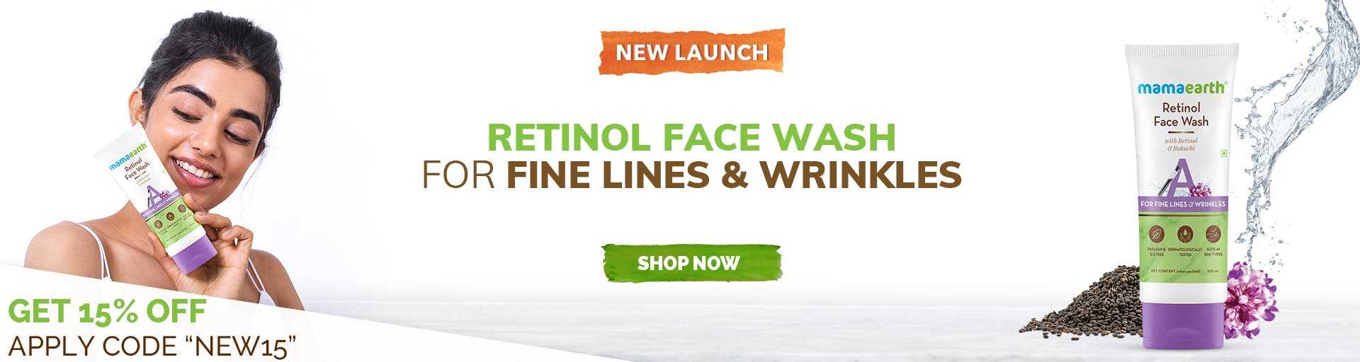 mamaearth.in - MamaEarth Retinol Face Wash @ just ₹299
