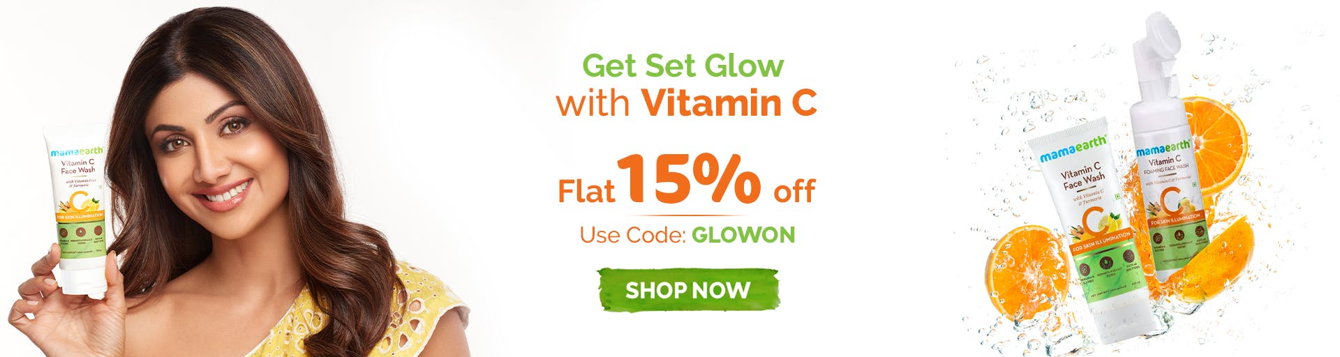mamaearth.in - Get Flat 15% OFF on MamaEarth Vitamin C Body Care Products