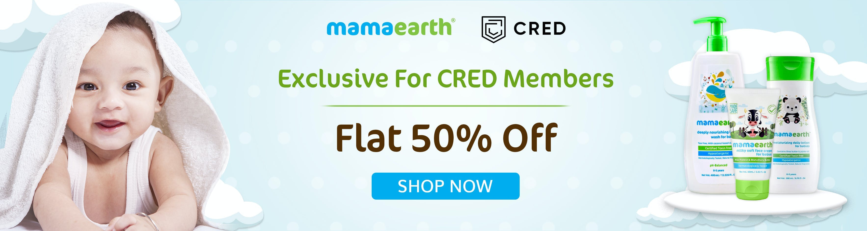 mamaearth.in - Avail Flat 50% OFF on Baby Care